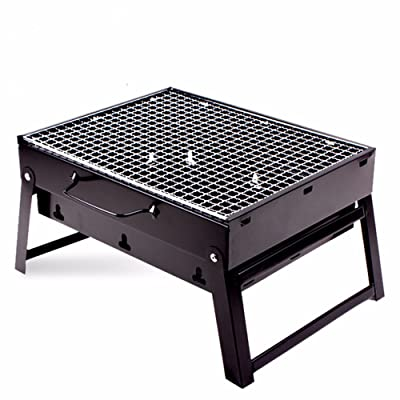 LaDicha Hewolf Portable Barbecue Grill Pliant Pique-Pied Barbecue Stand Rack