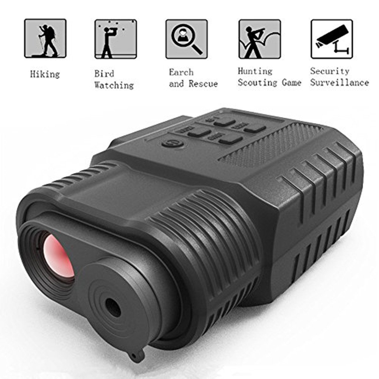 Night Vision Monocular, HD Digital Infrared Night Vision Hunting Monocular/Scope with Camera & Camcorder Function Takes Day and Night IR Photo & Video by SOLOMARK