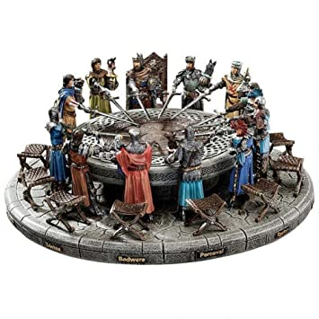 Knights Of The Round Table Swords.Design Toscano King Arthur And The Knights Of The Round Table Medieval Statue Set Includes 12 Knights 12 Chairs And Table Display 34 5 Cm
