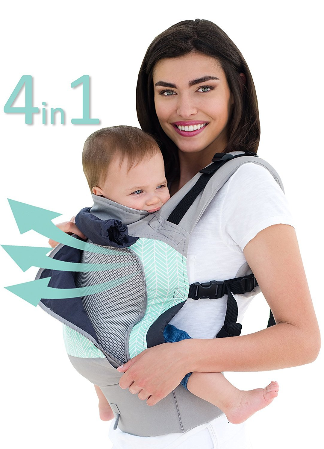 54b40a2cb28 LILLEbaby 4 in 1 ESSENTIALS All Seasons Baby Carrier - Boardwalk   Amazon.co.uk  Baby