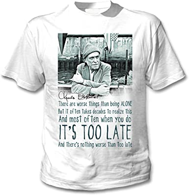 teesquare1st Charles Bukowski Being Alone Quote Camiseta Blanca ...