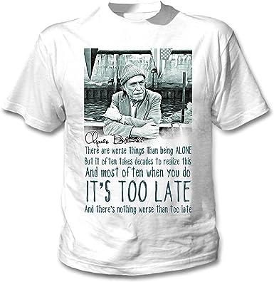 teesquare1st Charles Bukowski Being Alone Quote Camiseta Blanca ...