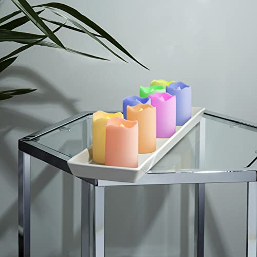 Flameless LED Votive Candles, Color Changing & Warm White Glow Options, Resin Plastic,