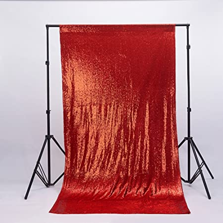 aec49ec4ad8 Zdada Red 6ftx9ft Youtube Sequin Background Sparkly Selfie Backdrop   Amazon.co.uk  Kitchen   Home