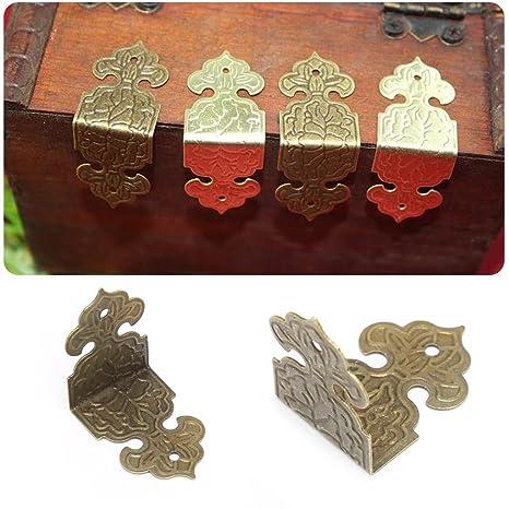 BIlinli 12xAnimales en Bronce Caja de joyería Decorativa ...
