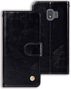 Zoeirc Wallet Case for Samsung Galaxy J2 Core/J2 2019/J2 Pure/J2 Dash/J2 Shine, PU Leather Wallet Flip Phone Case Cover with Card Slots for J2 (Black)