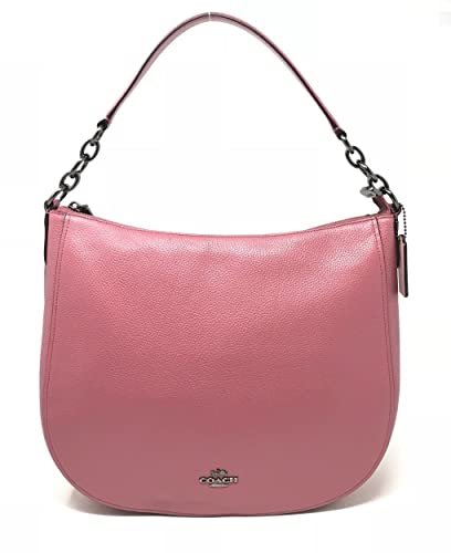 297bfd73c Amazon.com: Coach F58036 Pebble Chelsea 32 Hobo Leather Crossbody Bag  Rouge: Shoes