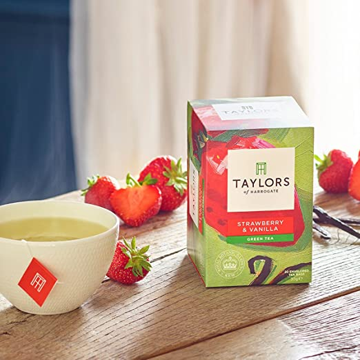 Taylors of Harrogate Strawberry & Vanilla Green Tea, 20 Teabags