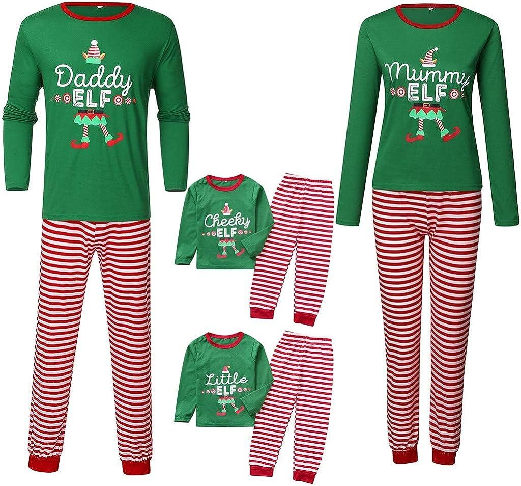 LANSKIRT Pijama de Navidad Familiar Conjunto de Pijamas A ...