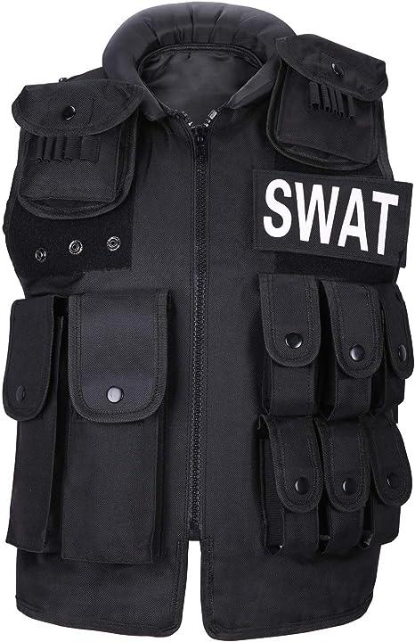 WOLIORS Chaleco t/áctico militar de combate ajustable polic/ía polic/ía traje de entrenamiento al aire libre Airsoft Paintball chaleco