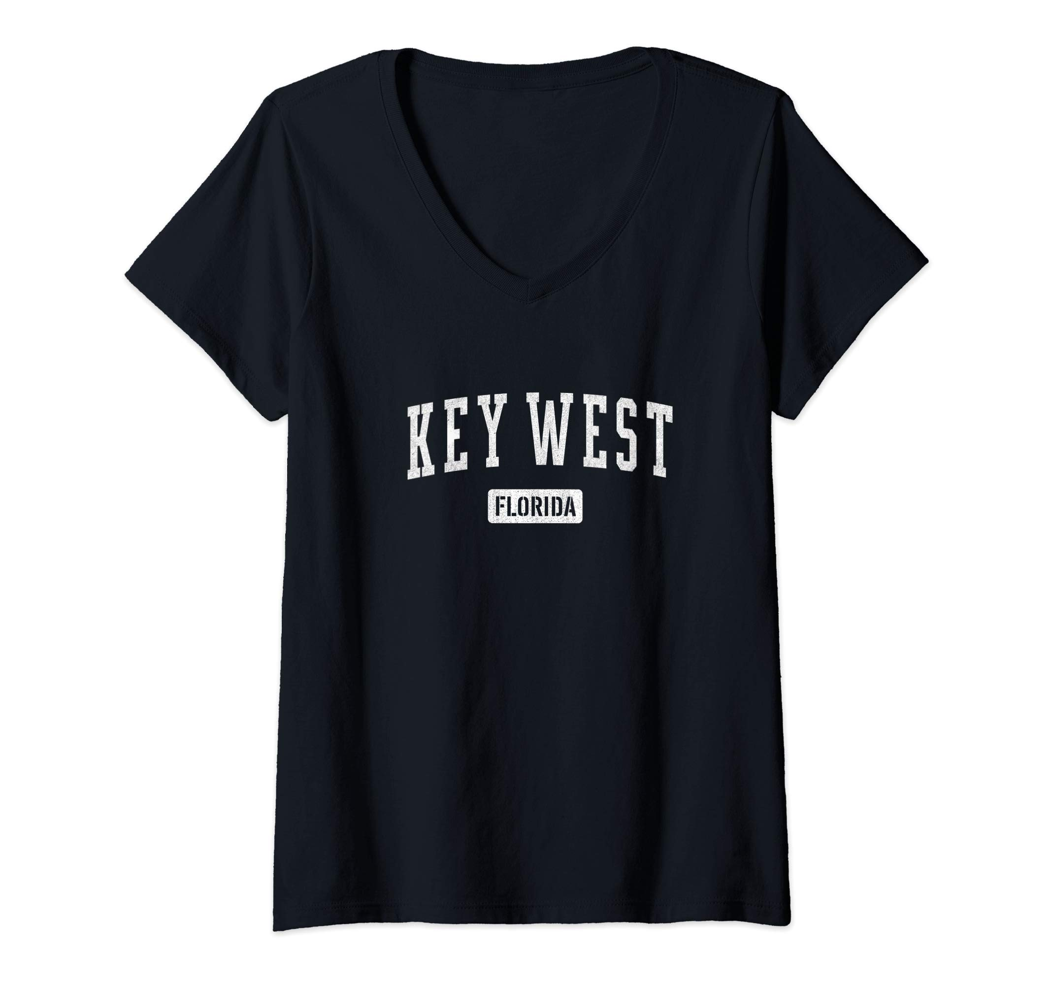 Womens Key West Florida, Men Womens Shirt -  V-Neck T-Shirt by Florida Raised Gear