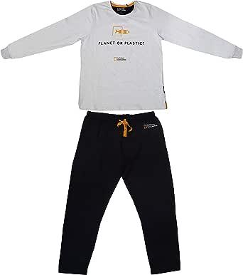 Aznar Innova s.a. Pijama para Hombre de Invierno National Geographic de Manga Larga de algodón: Amazon.es: Ropa y accesorios