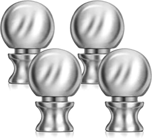 4 Pieces Lamp Finials Lamp Parts Brushed Nickel Finish Ball Lamp Finial 1-1/2 Inch High