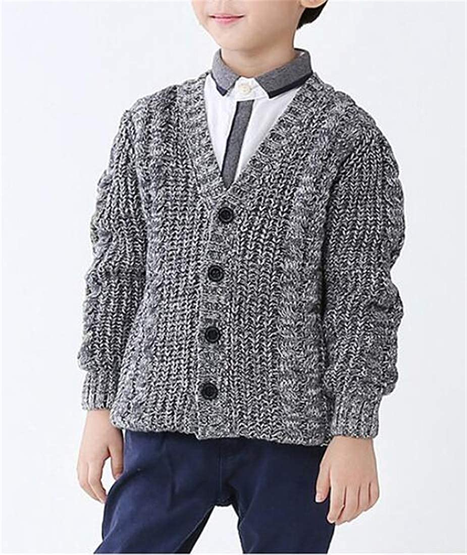 Sweatwater Boys Cute Thickened Winter Jumper Knitted Coat Cardigans