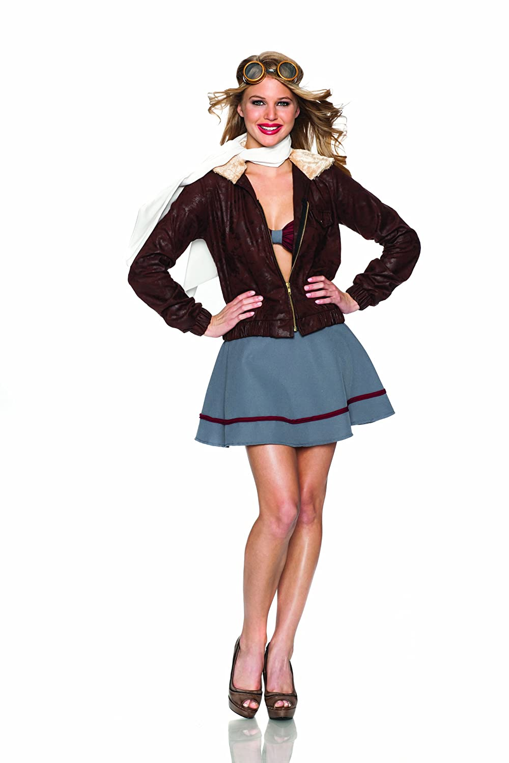 1940s Costumes- WW2, Nurse, Pinup, Rosie the Riveter Delicious Vintage Pilot Costume $40.00 AT vintagedancer.com