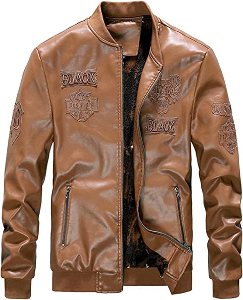 OMZIN メンズ バイクジャケット PUレザー カジュアル 革ジャン ライダースジャケット PU革 防寒 アウター コート多色