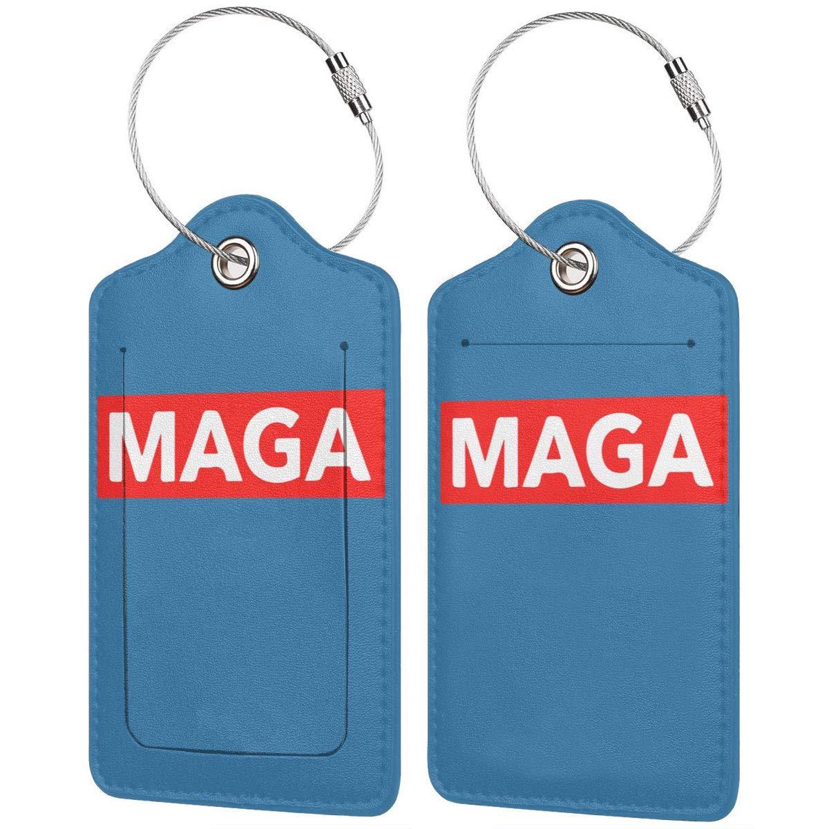1pcs,2pcs,4pcs Make America Great Again Pu Leather Double Sides Print Luggage Tag Mutilple Packs
