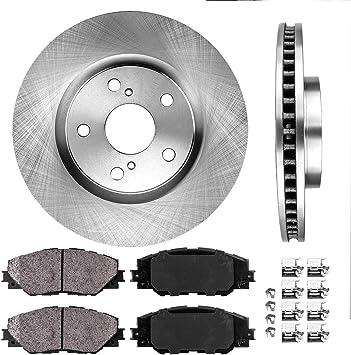 Front + Rear Rotors w//Metallic Pad OE Brakes 2009 2010 Vibe Matrix 2.4 L