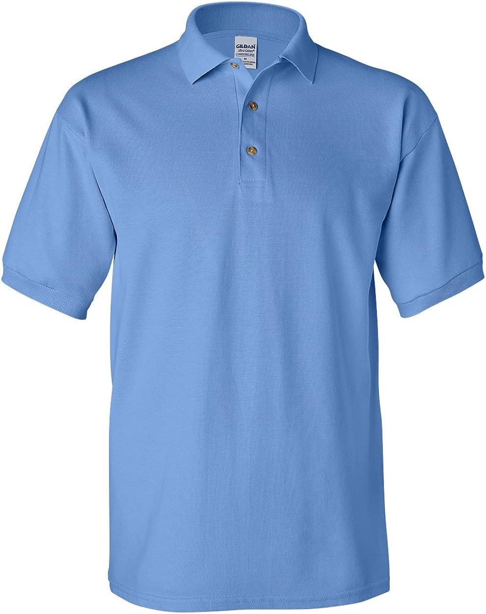 Carolina Blue G380 Pack of 12 XL Pique Polo Gildan Ultra Cotton 6.5 oz