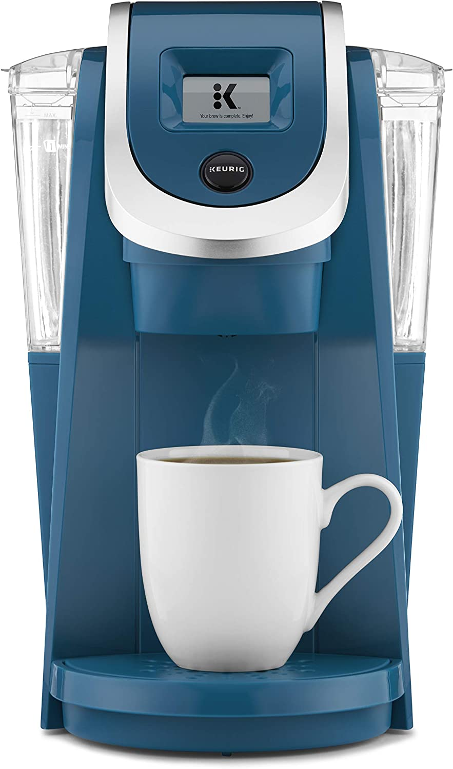 Keurig K200 Coffee Maker, Single Serve K-Cup Pod Coffee Brewer, With Strength Control, Peacock Blue (Renewed)