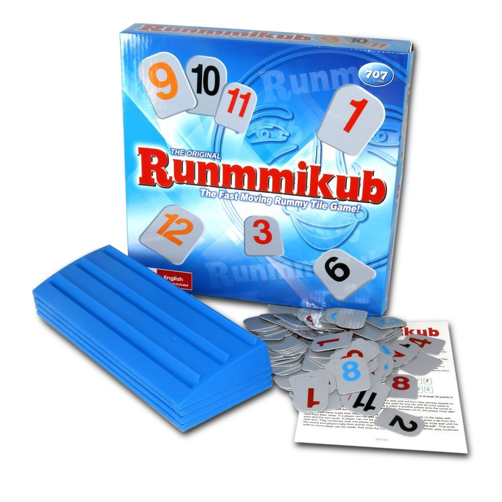 Cafolo ~ Rummikub The Original Rummy Board Tile Game -106 Tiles - Israel Mahjong Majiang Game, Family Travel toy