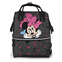 Minnie Mouse Cartoon Diaper Bag Backpack - Waterproof Multifunctional Large Travel Nappy Bag Stylish For Woman And Men