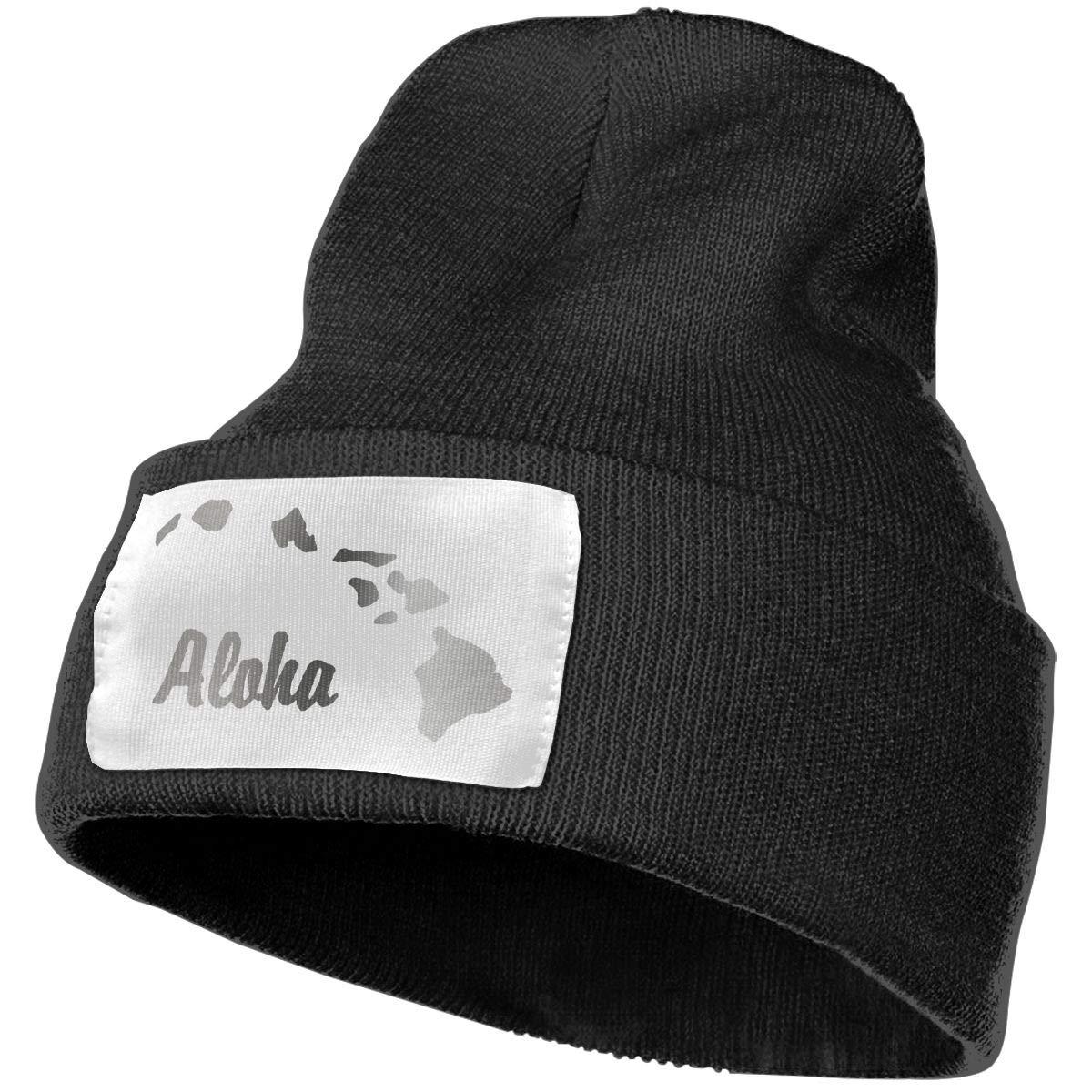 Adults Aloha Hawaiian Platinum Style Elastic Knitted Beanie Cap Winter Warm Skull Hats
