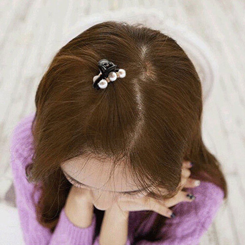 Yesiidor Hair Claw Clip Pearl Rhinestone Decorated Hair Clip Pin Claw Hair Accessories