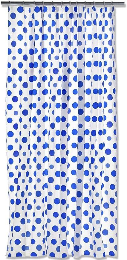 Cortina de ducha con diseño de puntos y - cortina de ducha de ...