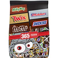 M&M'S, SNICKERS, TWIX, MILKY WAY & 3 MUSKETEERS Bulk Halloween Candy Assortment - 104.27oz/365ct