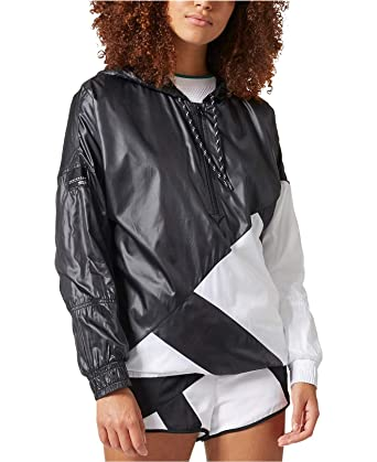 3f51dc55736d Image Unavailable. Image not available for. Color  adidas EQT Quarter-Zip Windbreaker  Black White 2XS