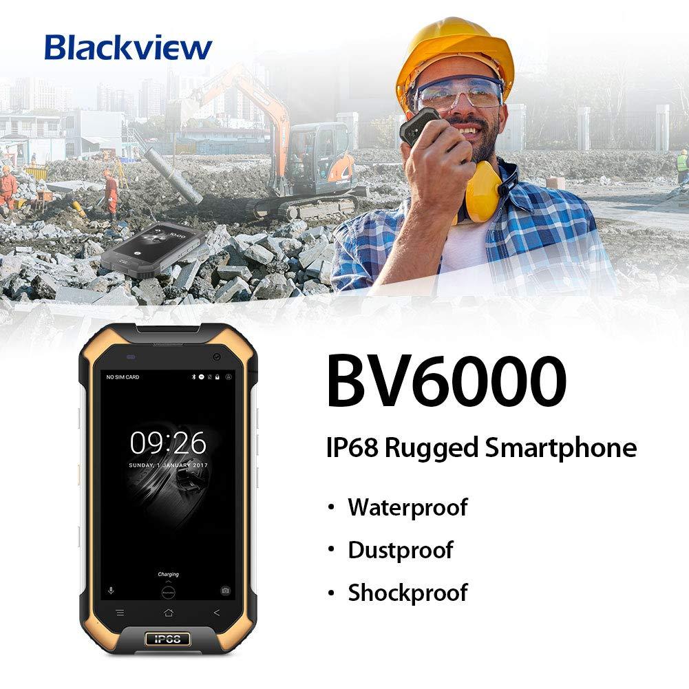 Blackview BV6000 Móviles Resistentes IP68 Impermeable a Prueba de Polvo. 4500mAh de Batería Carga Rapida 4G Smartphone Dual Sim,3+32GB Movil ...