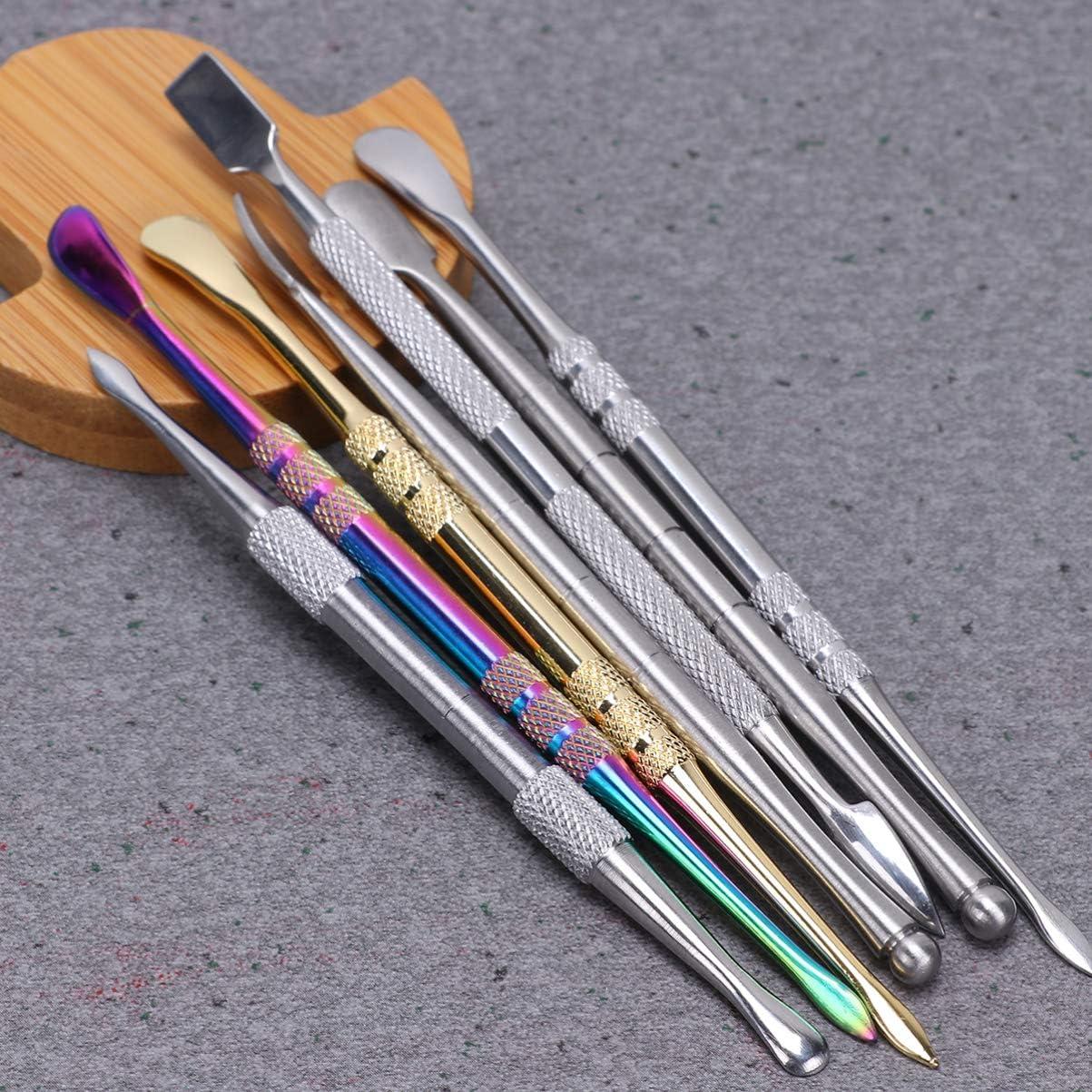 MILISTEN 7 St/ück Wachsschnitzwerkzeug Tonformwerkzeuge Edelstahl Wachsbildhauer Schnitzl/öffel Doppelseitiges Keramikskulpturwerkzeug