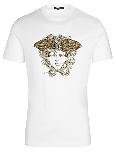 Versace Camiseta - Camiseta - Para Hombre Blanco Blanco M(UK)/M(