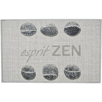 Promobo Tapis Deco Zen Salle De Bain Cuisine Galet Gris Esprit Zen