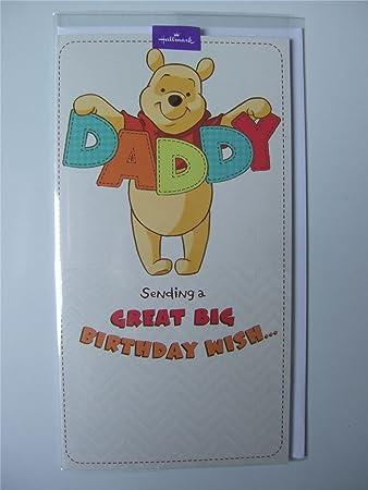 Hallmark Disneys Winnie The Pooh Daddy Birthday Card Amazon