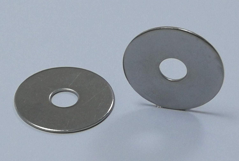 Material Edelstahl V2A Aisi 304 25 St/ück Karosseriescheiben//Kotfl/ügelscheiben M4-4,3 x 15 x 1 mm