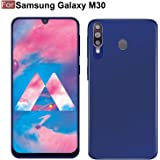CEDO All Side Rubberised Matte Soft Silicon Flexible Back Case Cover for Samsung Galaxy M30 (Blue)