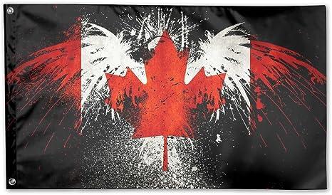 Décoration maison des drapeaux – Cool Canada extérieur saisonnier et  Vacances Yard Drapeau Bannière 8,8 x 8,8 m