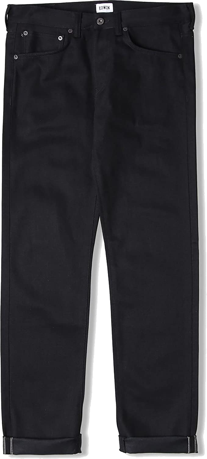 Edwin ED-80 Slim Tapered Jeans White Listed Black Black