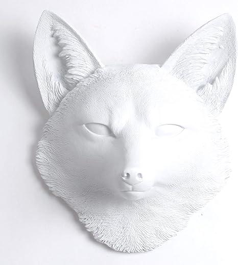 Faux Taxidermy hello kitty White kitty wall mask interior decor