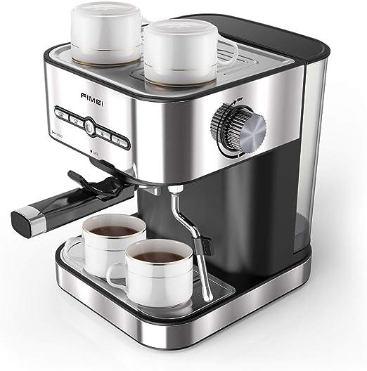 Fimei Máquina de café, cafetera expreso italiano, enchufe y manual ...