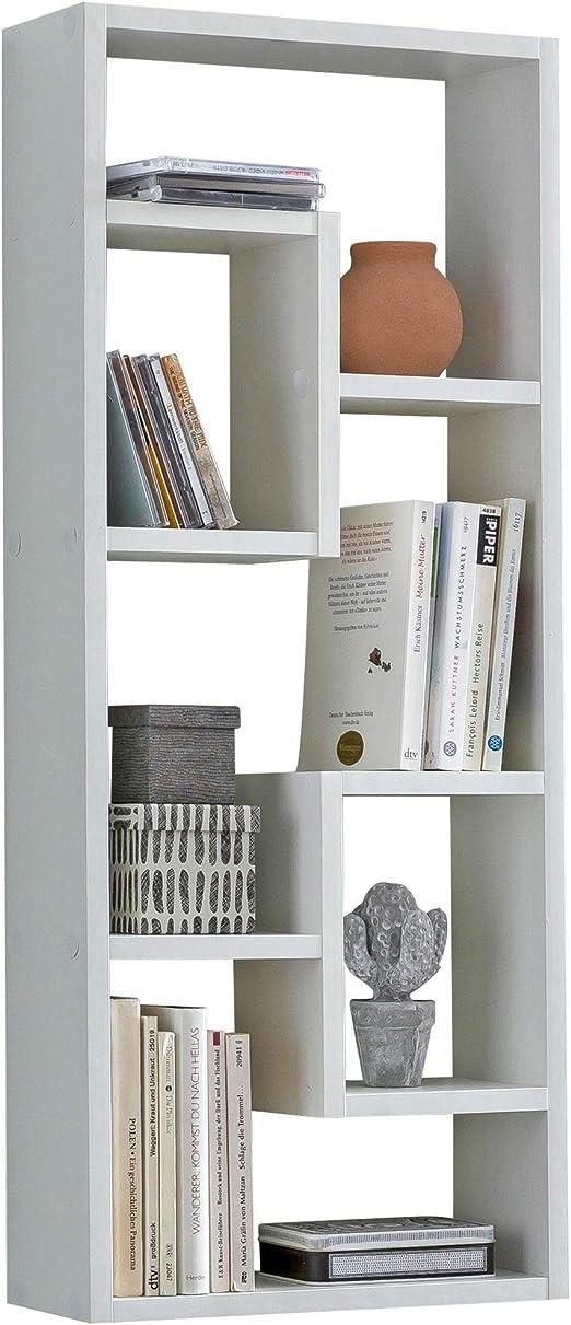 Estantería de pared KS-Furniture Rosalie blanca de 36 x 90 x ...