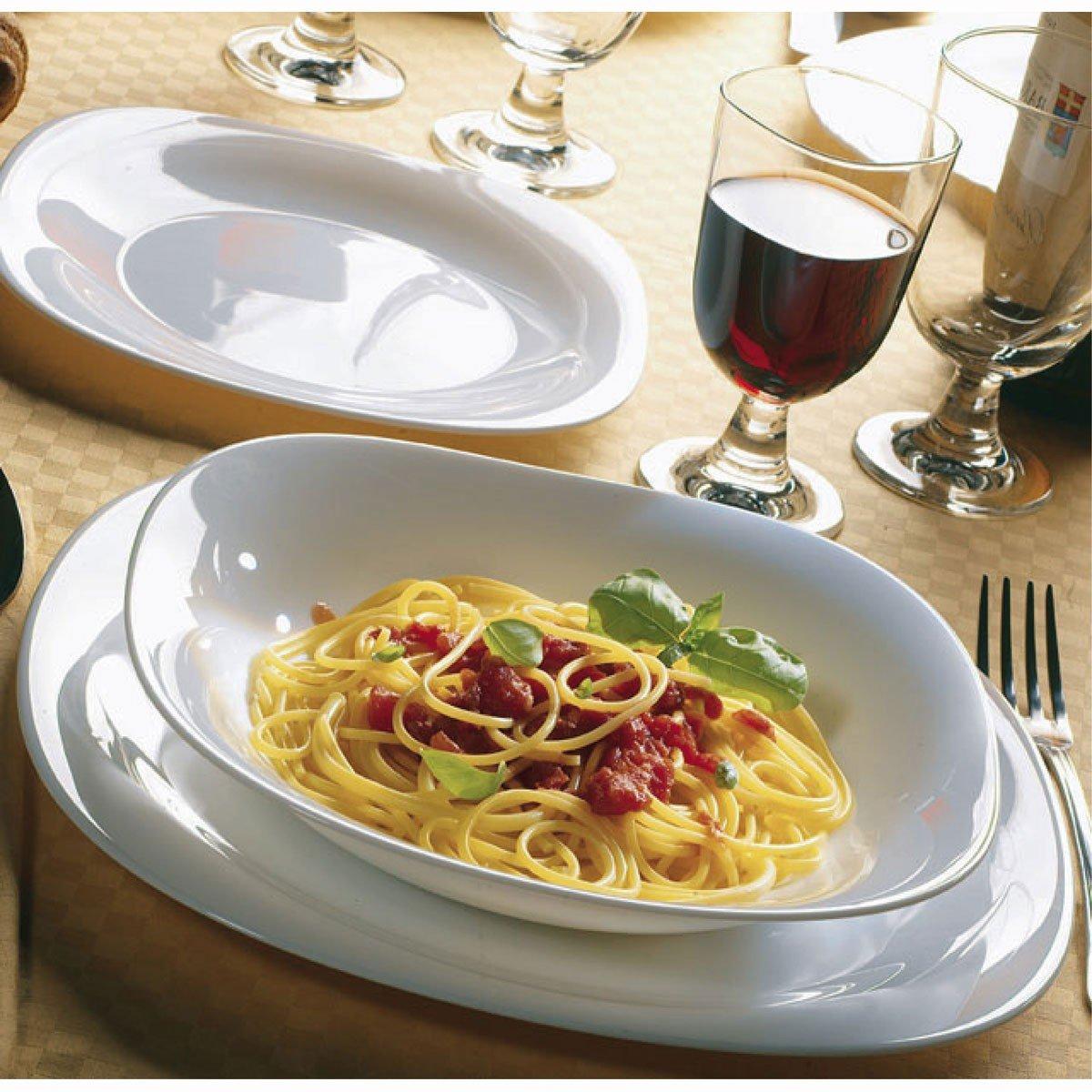Amazon.com | Bormioli Rocco Parma Dessert Plates Set of 6 White Small Plates Accent Plates & Amazon.com | Bormioli Rocco Parma Dessert Plates Set of 6 White ...