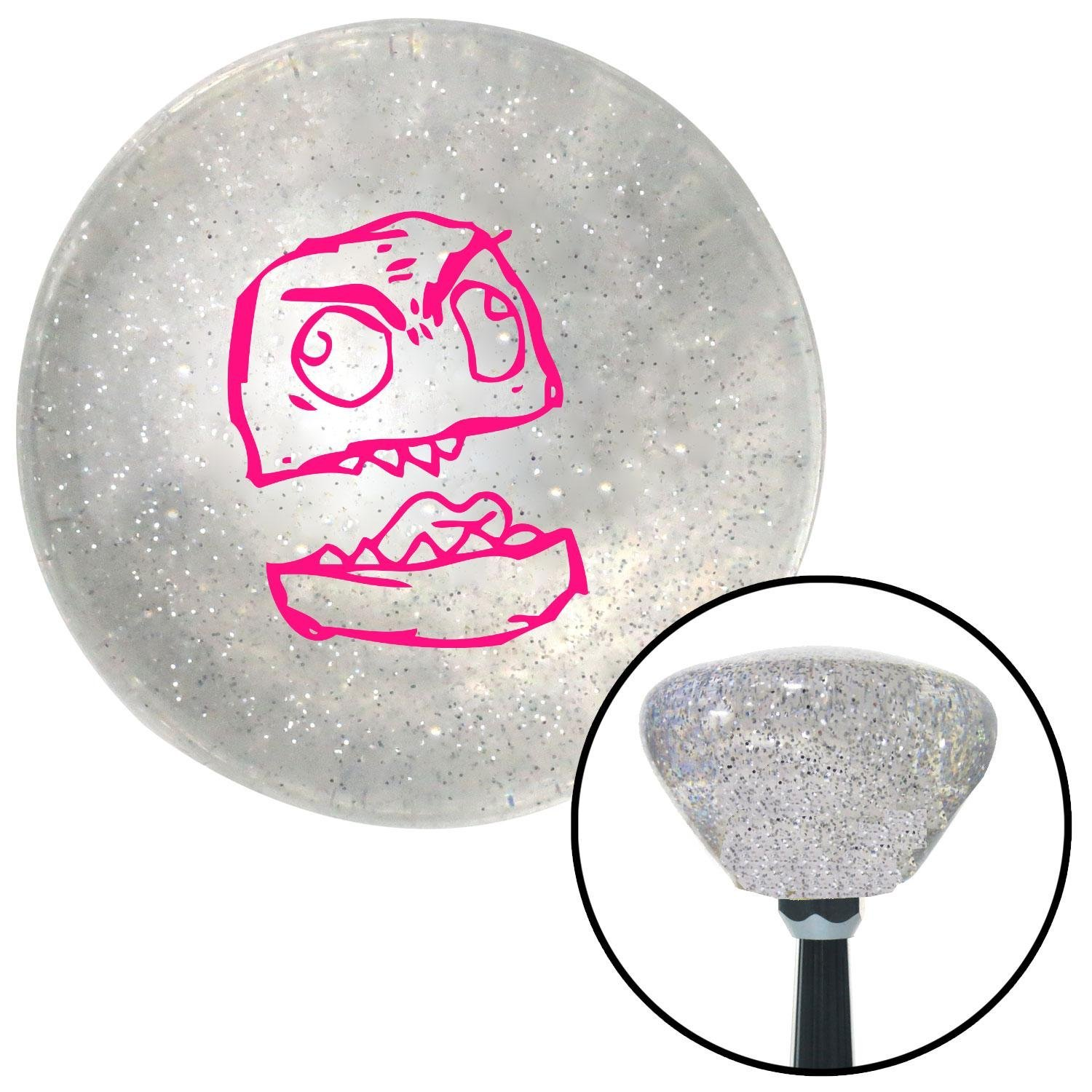 Pink Canadian American Shifter 161457 Clear Retro Metal Flake Shift Knob with M16 x 1.5 Insert