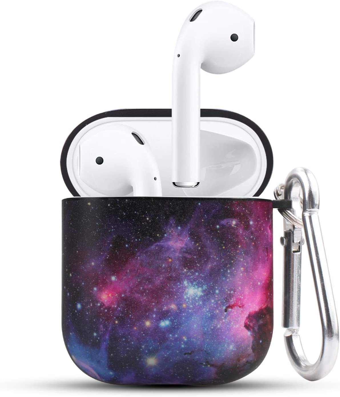 HIDAHE Airpod Cases, Airpod Case Cute, Airpod Case Luxury, Cute Protective Hard Designer Airpods Case for Girls Men Women Compatible with Apple AirPods Charging Case 2&1, Nebula