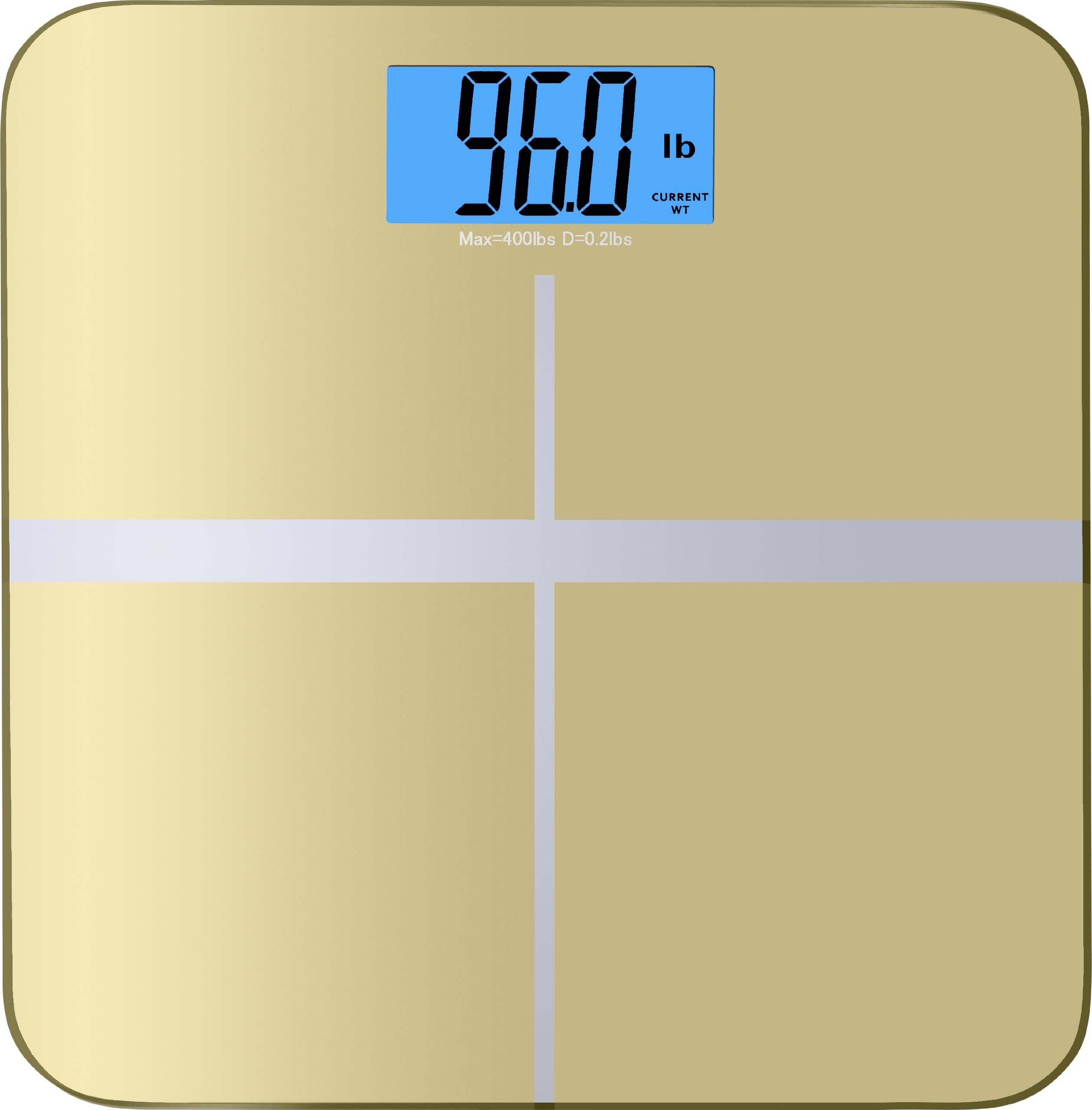 BalanceFrom High Accuracy Premium Digital Bathroom Scale with 3.6'' Extra Large Dual Color Backlight Display and ''Smart Step-On'' Technology [NEWEST VERSION] (Gold)