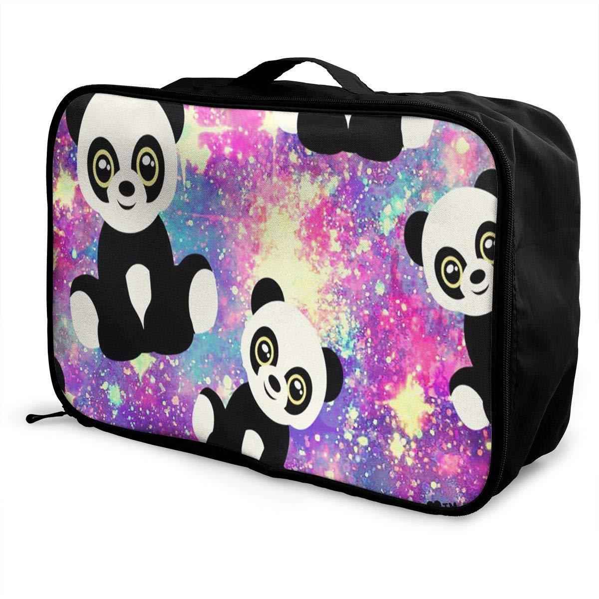 Travel Luggage Duffle Bag Lightweight Portable Handbag Fantasy Panda Print Large Capacity Waterproof Foldable Storage Tote