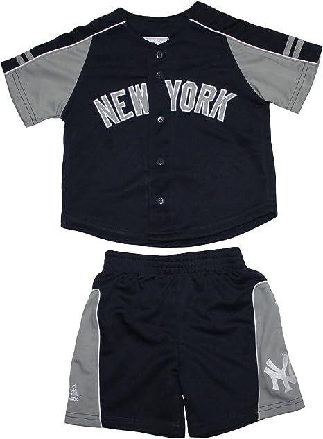 2 piezas conjunto niño MLB béisbol New York Yankees Camisa y pantalones cortos SET Azul azul oscuro Talla:3T: Amazon.es: Deportes y aire libre