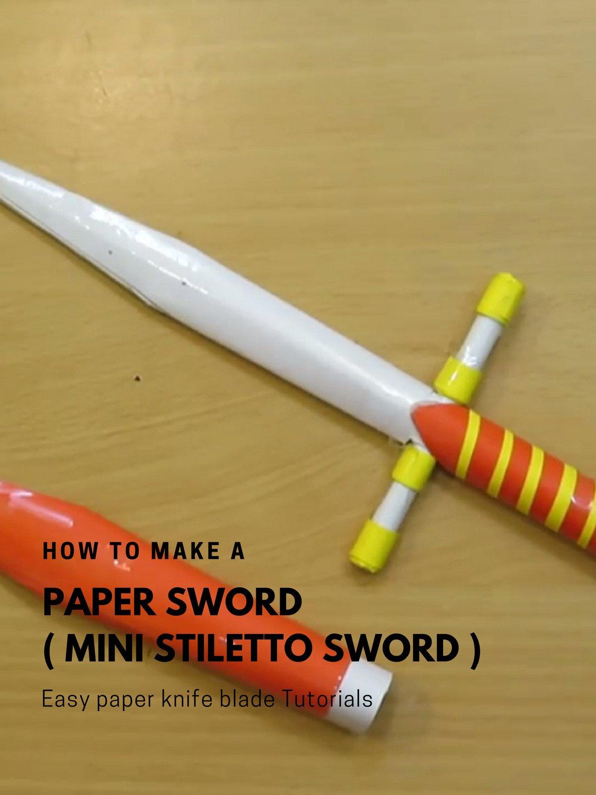Amazon com: Watch How to Make a paper Sword (Mini Stiletto